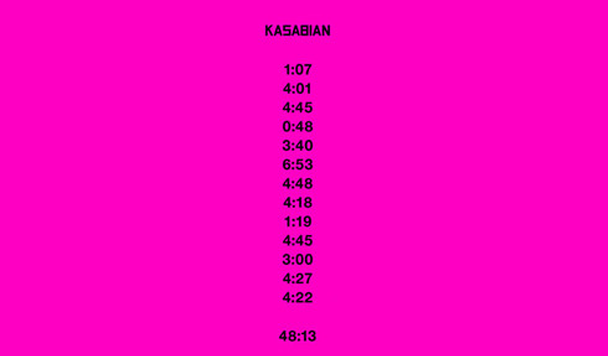 Kasabian: 48:13  [ALBUM Review]